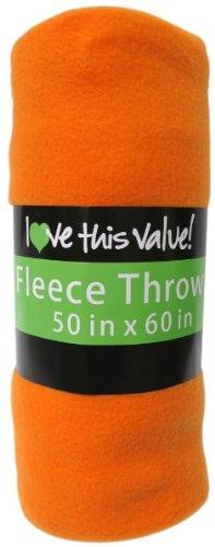Ddi Fleece Blanket - Orange (Pack Of 24) front-956782