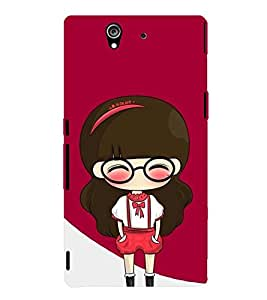printtech Cute Girl Back Case Cover for Sony Xperia Z::Sony Xperia Z L36h
