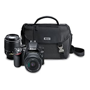 Nikon D3200 24.2 MP CMOS Digital SLR Camera with 18-55mm VR and 55-200mm Non-VR DX Zoom Lenses Bundle