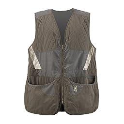 Browning Men\'s Summit Vest, Green/Dark Grey, X-Large