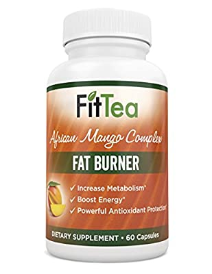 Fit Tea Fat Burner - African Mango Complex, Natural Weight Loss, Body Cleanse and Appetite Control. Proven Weight Loss Formula.