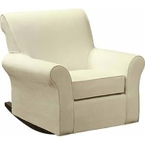 Dorel Rocker Slipcover Beige Nursery Furniture Living Room