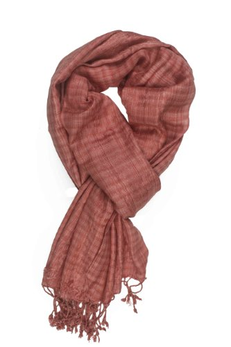 In-Sattva Colors - Checkered Print Scarf Stole Terra Cotta