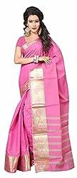 Sanju Radiant Pink Art Silk Traditional Wear Saree for Women