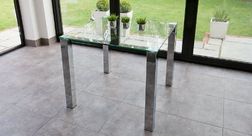 Clear Glass Tiva Small Glass Dining Table