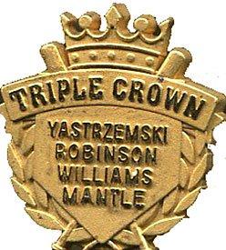 Triple Crown Gold Pin