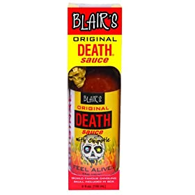 Blair's Original Death Sauce with Chipotle and Skull Key Chain - 5 oz