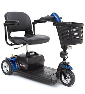 Pride Mobility Go-Go Sport 3-Wheel Electric Travel Scooter Heavy Duty S73 + Free Accessories