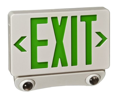 Royal Pacific RXEL36GW Remote Capable Exit Sign and Two Head Emergency Light Combo