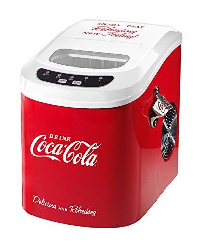Nostalgia ICE100COKE Coca-Cola 26-Pound Automatic Ice Cube Maker
