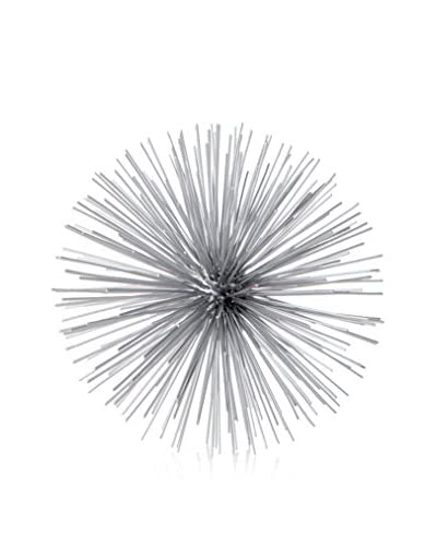 Torre & Tagus Spike Decor Sphere, Large, Silver