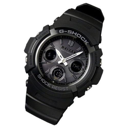 Gee and shock G-shock CASIO watch CASIO G shock multi band 6 radio solar AWG-M 100B-1 [parallel import goods]
