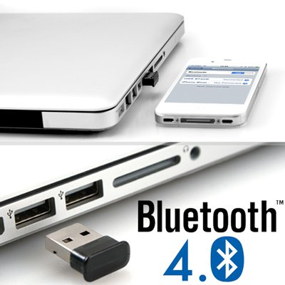GMYLE (TM) Micro USB Bluetooth 4.0 Dongle Dual Mode w/ Low Energy Technology Wireless Adapter (Broadcom BCM20702 chipset)