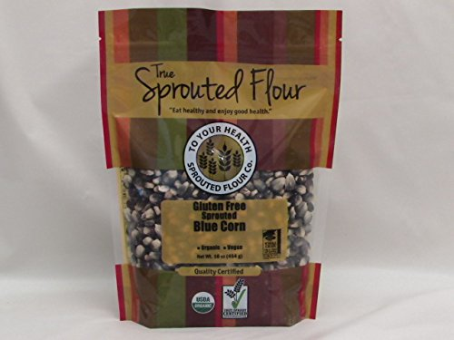 1 Lb. Organic, Sprouted Blue Corn