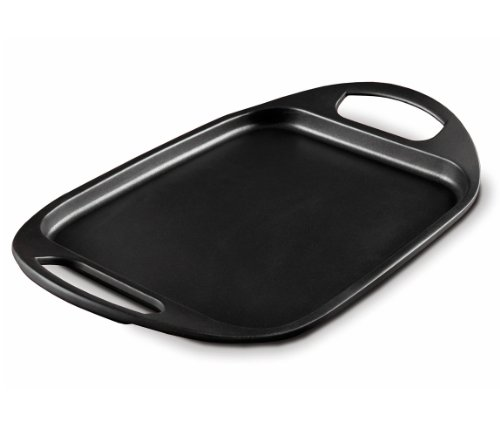Fundix by Castey Nonstick Cast Aluminium Induction Flat Tray Pan, 17-1/2-Inch, Black