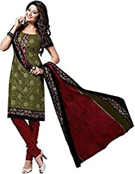 Creative Collection Chanderi Embroidered Salwar Suit Dupatta Material (Un-stitched)