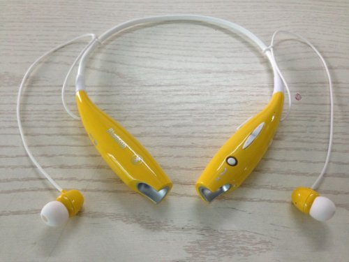 Soundbeats Universal Hv-800 Wireless Music A2Dp Stereo Bluetooth Headset Universal Vibration Neckband Style Headset Earphone Headphone For Cellphones Such As Iphone, Nokia, Htc, Samsung, Lg, Moto, Pc, Ipad, Psp And So On & Enabled Bluetooth (Yellow, Hbs-8
