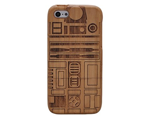 Queens® Unique Real Special Unique Real Handmade Natural Wood Wooden Hard Bamboo Shockproof Case For Iphone 6 (4.7) (A-9)