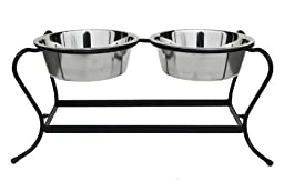 Majesty Double Bowl Elevated Diner - 7\