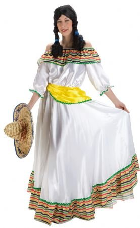 Imagen principal de Disfraz mejicana color blanco. Talla 42 44. 46d54521701