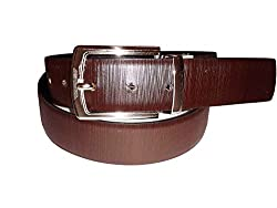 SANSHUL MEN BELT (SB-28 BLACK BROWN 30-42 INCH))