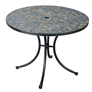 Home Styles 5601-30 Stone Harbor Slate Tile Top Outdoor Dining Table from Home Styles