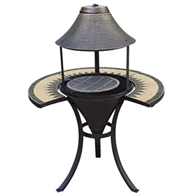 Iron Chimenea Chiminea Grill Heater With Table Top For Heating Barbecue from Lime Shop