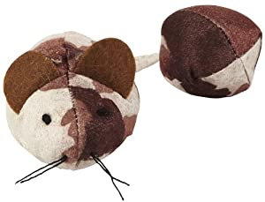 Penn Plax Mouse with Ball Tail Cat Toy