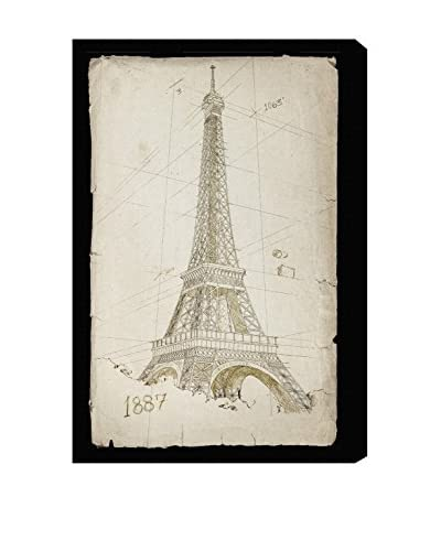 Oliver Gal Hatcher & Ethan 'Eiffel Tower 1887' Canvas Art