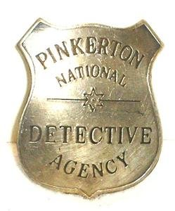 Pinkerton Detective Agency Obsolete Old West Police Badge - 1