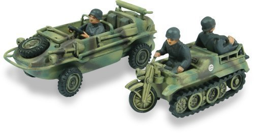 Lindberg 1:72 scale Schwimmwagen Amphibious Jeep and Kettenkrad 1:2 track motorcycle by Lindberg