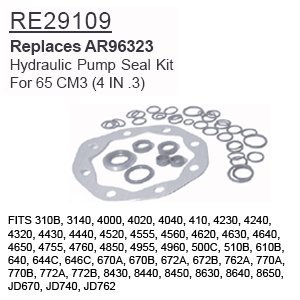 RE29109 John Deere Parts Hydraulic Pump Seal Kit 310B, 3140, 4000, 4020, 4040, 4