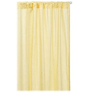 "Tadpoles Basics Gingham Drapes 84"" - Yellow"