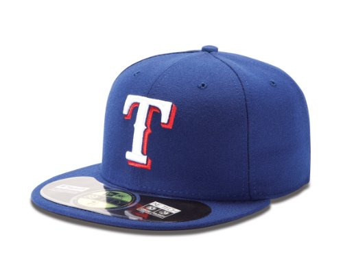 MLB Texas Rangers Game AC On Field 59Fifty Fitted Cap, Royal, 7 1/4