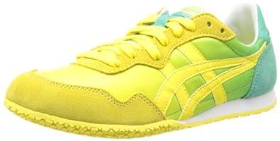 Onitsuka Tiger Women's Serrano Sneaker,Mint/Yellow,8 M US