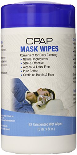 Contour Products CPAP Mask Wipes, Unscented, 62 Wipes