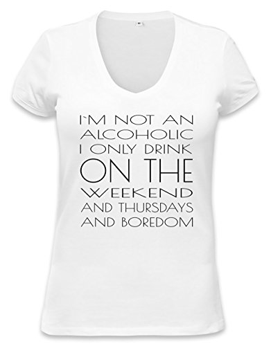 I'M Not An Alcoholic Funny Slogan T-Shirt Womens V-Neck T-Shirt Xx-Large