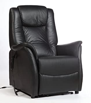 fauteuil relax releveur cuir vachette noir 2 moteurs. Black Bedroom Furniture Sets. Home Design Ideas