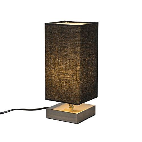 qazqa-design-industriel-moderne-lampe-de-table-milo-carre-noire-metal-tissu-carre-rectangulaire-e14-