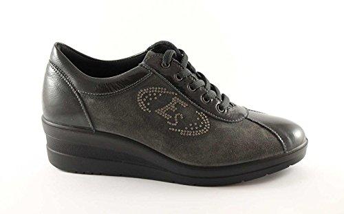 ENVAL SOFT 29611 antracite scarpe donna sportive zeppetta lacci 41