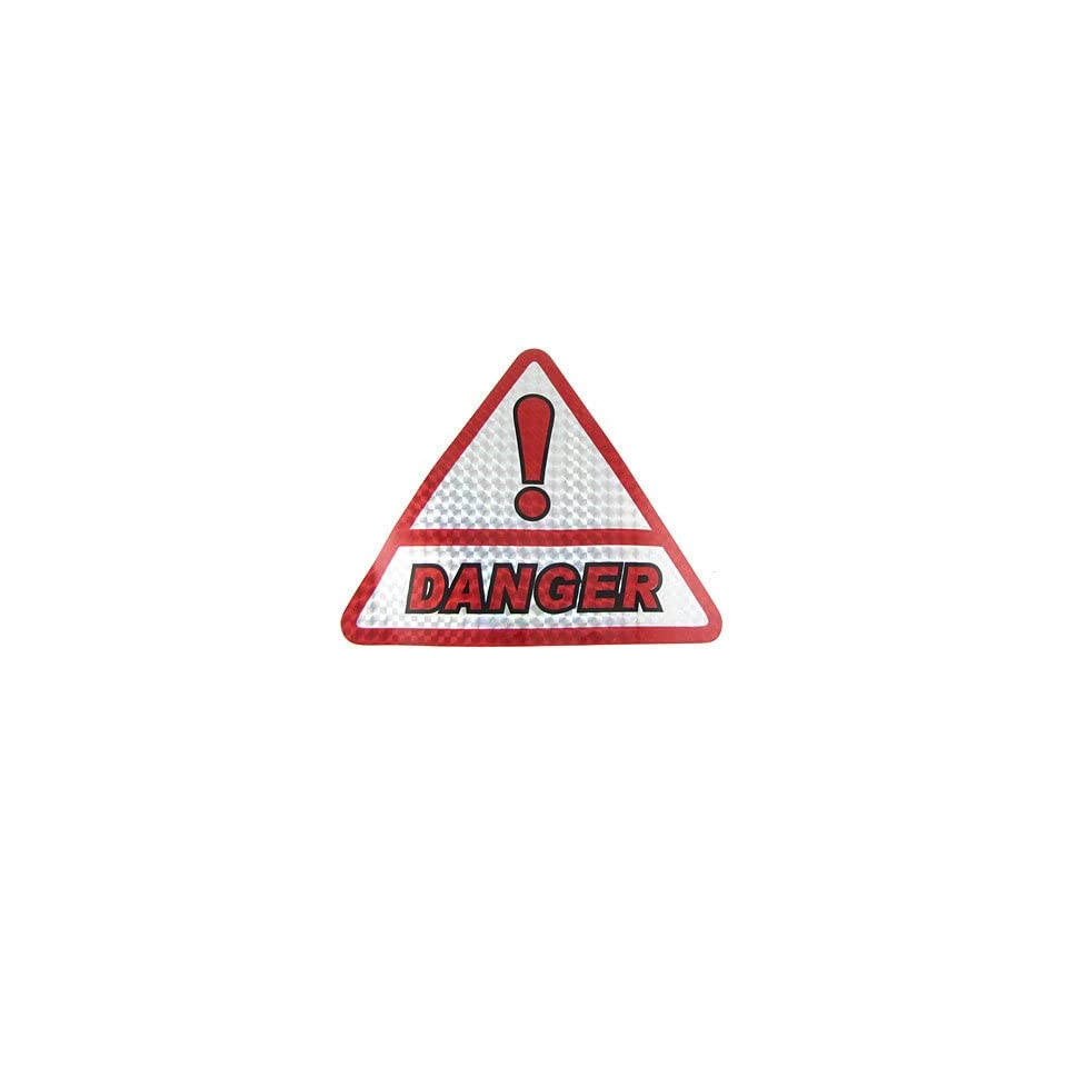 Amico Vehicle Car DANGER Sign Triangle Decal Reflective Stickers x 3