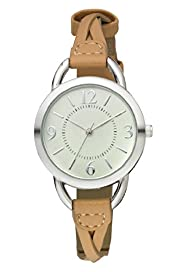 Round Face Plait Strap Analogue Watch