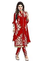 Rudraksh Fashion georgette Embroidered dress material