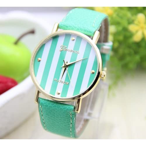 10 colors New Fashion Leather GENEVA Watch For Ladies Women Dress Watch Quartz Watches