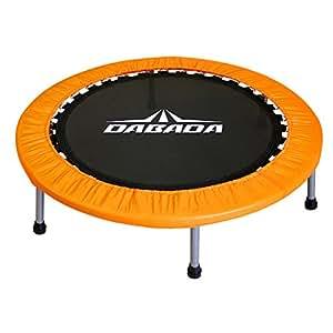 DABADA(ダバダ) トランポリン 大型102cm【耐荷重110kg】簡単組立 子供から大人まで使用可能 (オレンジ)