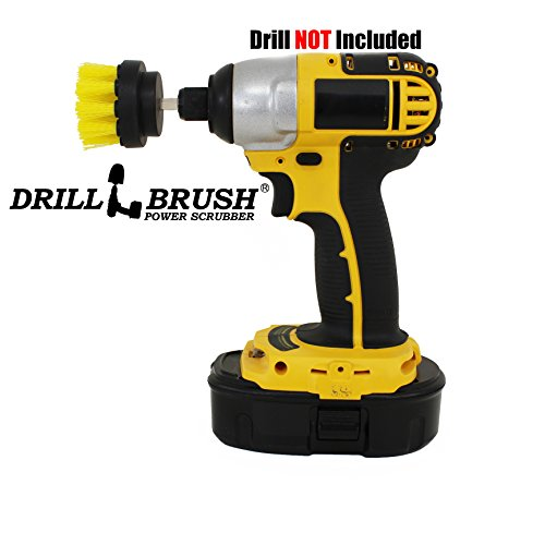 Power Drill Attachment Scrub and Cleaning Brush for Cleaning Bathroom Surfaces, Tile and Grout, Hard Water Stains, Rust and Mineral Deposit Removal (Power Grout Cleaning Brush compare prices)