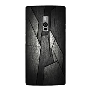 Abhivyakti Abstract Black Abstract Hard Back Case Cover For One Plus Two