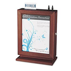 Customizable Wood Suggestion Box, 10 1/2 x 13 x 5 3/4, Mahogany by SAFCO (Catalog Category: Forms, Record Keeping & Reference / Human Resources)