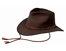 Outback Trading Co Men\'s Co. Grizzly Upf50 Sun Protection Oilskin Hat Brown Small