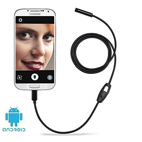 デプステッチ DEPSTECH USB接続エンドスコープ 防水内視鏡 スマホAndroid、OTG対応 ファイバースコープ 7.0MMレンズ 調節可能なLEDライト6灯搭載 1メートル